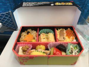 Bento on the Shinkansen to Osaka