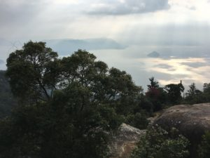 View from summit of Mt Misen