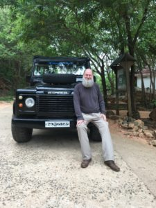 Me with 1959 Land Rover Defender