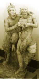 Pan and Daphnis, Roman reproduction of Greek original